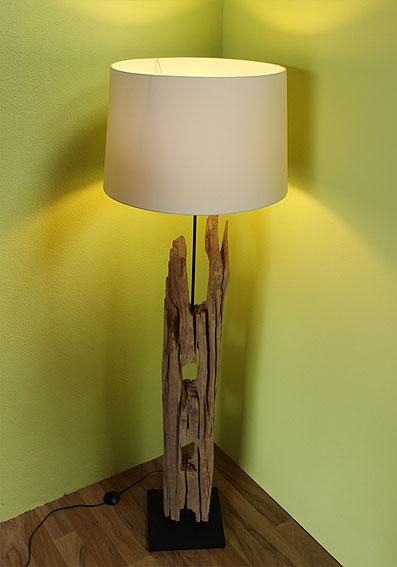 AsienLifeStyle Stehleuchte Schwemm-Holz Stehlampe Lampe Leuchte ...