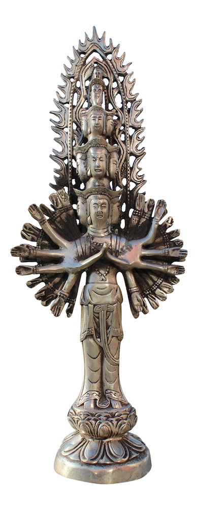 chenrezig buddha statue aus bronze tibet china asiatika. Black Bedroom Furniture Sets. Home Design Ideas