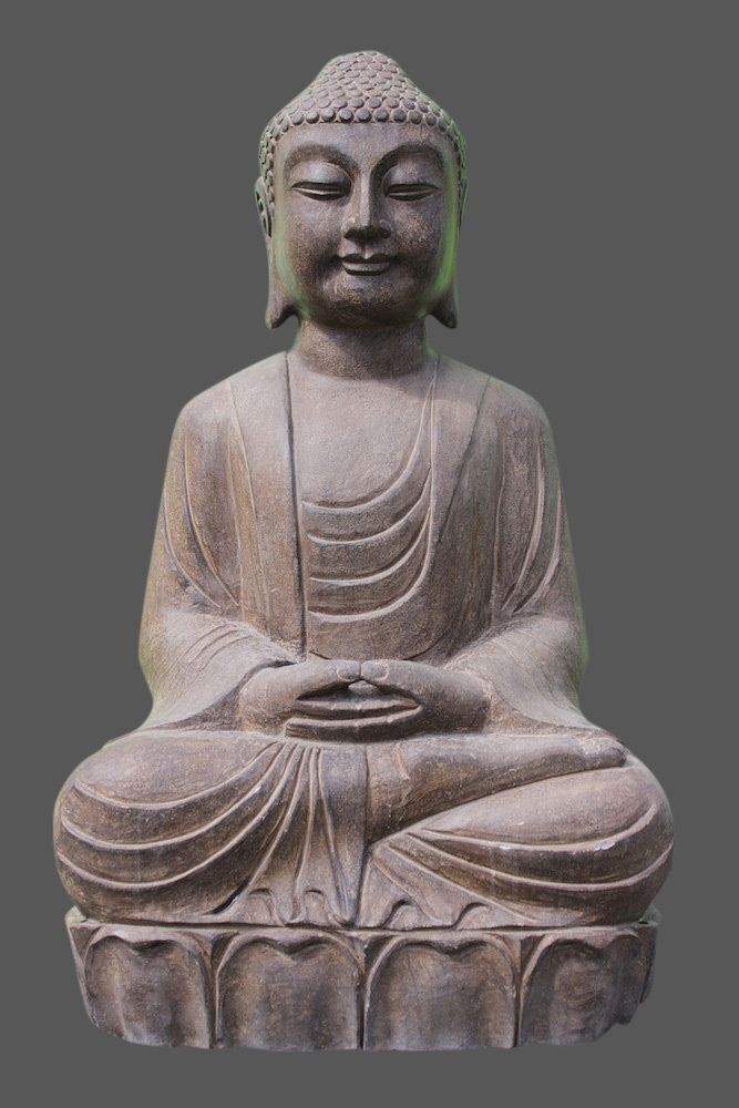 amitabha buddha figur stein naturstein japan garten skulptur asiengarten. Black Bedroom Furniture Sets. Home Design Ideas