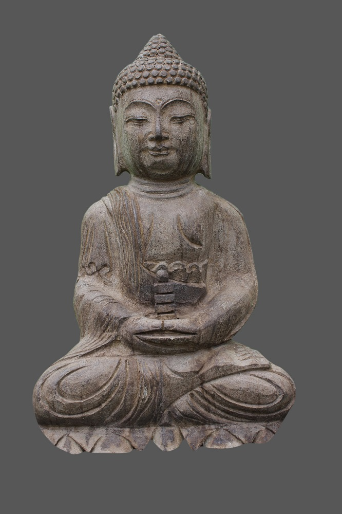 amitabha buddha figur stein naturstein japan garten buddha skulptur tibet china ebay. Black Bedroom Furniture Sets. Home Design Ideas