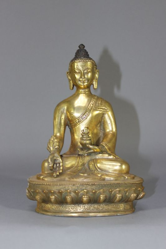 medizin buddha statue figur tibet asiatika aus bronze. Black Bedroom Furniture Sets. Home Design Ideas