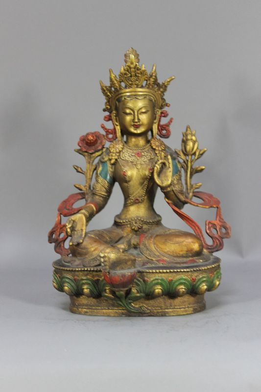 29cm gr ne tara buddha statue gro bronze figur skulptur tibet buddhismus ebay. Black Bedroom Furniture Sets. Home Design Ideas