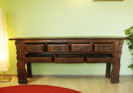 bois d 39 orme buffet bahut bois franc tibet chine l 39 asie de meubles fai la main ebay. Black Bedroom Furniture Sets. Home Design Ideas