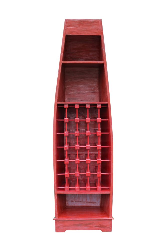 Regal boot vino schrank weinregal regal aus holz bali for Regal asiatisch