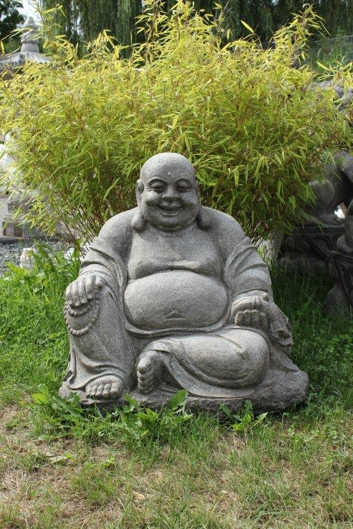 dicker lachender happy hotai buddha reichtum natur stein china japangarten. Black Bedroom Furniture Sets. Home Design Ideas