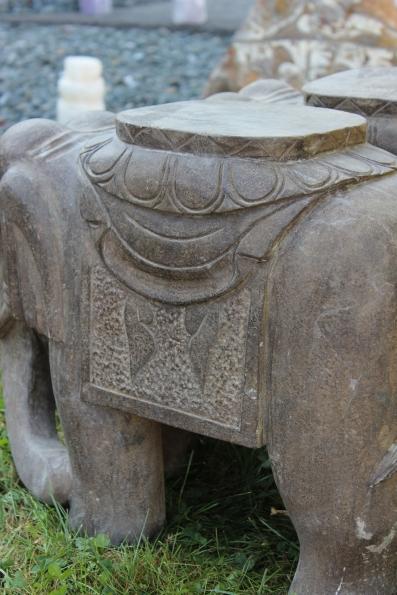 elefant natur stein statue granit skulptur gro china fengshui gl cksbringer ebay. Black Bedroom Furniture Sets. Home Design Ideas