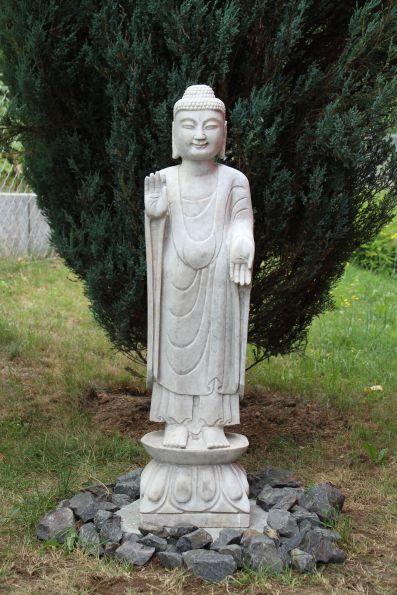 marmor stein buddha figur skulptur tibet china asien garten statue japangarten ebay. Black Bedroom Furniture Sets. Home Design Ideas